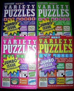MERIT VARIETY PUZZLES & GAMES JUMBO Logic Sudoku Puzzle PENNY PRESS