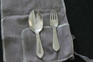 Georg Jensen Sterling Silver Baby Flatware Set Continental Pattern