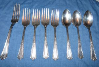 Vintage Lot Simeon L George Rogers Company A1 Silver