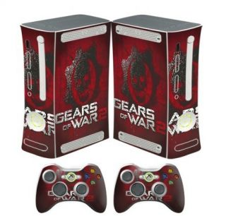 US Free SHIP Game Sticker Xbox 360 Skin 2 Controllers Case Cover