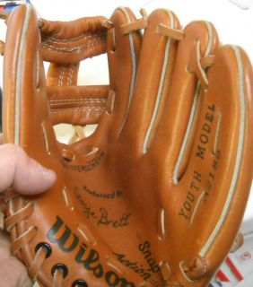 George Brett Youth Wilson Baseball Glove Royals
