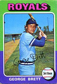 George Brett Unsigned 1975 Topps Card
