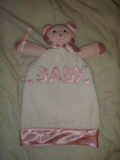 Baby Ganz Pink Teddy Bear Lovey Security Blanket Blanky