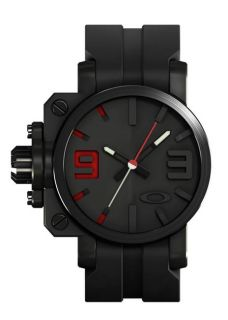 Oakley Gearbox 10 062 Mens Stealth Black Rubber Strap Watch