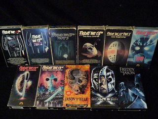 Friday The 13th Complete VHS Collection
