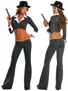 Sexy Fantasy Gangsta Girl Costume Medium Large 1347 R