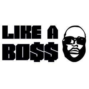 Like A Boss Gangster Hip Hop Car Decal Bumper Sticker Funny