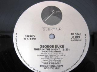 LP Vinyl Record George Duke Thief in the Night White Label Promo