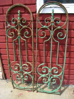 34 Vintage Wrought Iron Architectural Salvage Garden Fence Home Decor