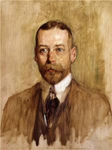 Print Portrait King George V of England United Kingdom