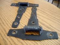 Vintage BLACK Hinges Gate Barn Garage Shed Door Art Deco style strap