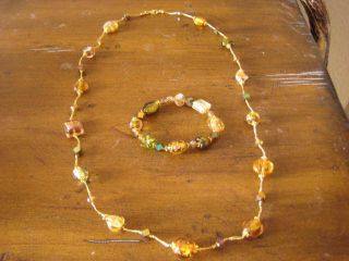 Premier Designs Secret Garden Necklace and Bracelet Set Brand New