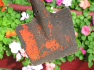 Antique Garden Tool Old Red Paint Vintage