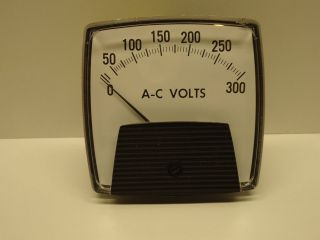 GENERAL ELECTRIC 300 AC VOLTS NIB PANEL METER 50 250344RXRX1