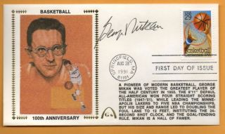 George Mikan Signed Gateway Cachet Minneapolis Lakers