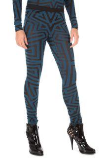 Gareth Pugh New Woman Leggings Pants Col Black Blue PG6300 B Size S