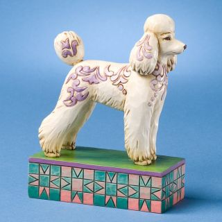 Genevieve Poodle Figurine Jim Shore Heartwood Creek Statue Enesco NIB