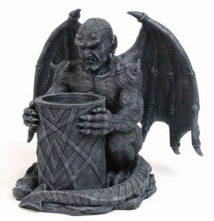 Nightwatchman Candleholder Gargoyle Statue Home Collection Figurine