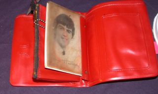 Vintage Beatles Pink Wallet Coin Purse John Lennon Paul McCartney