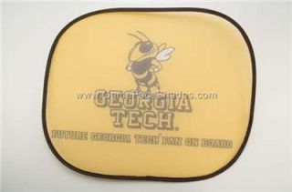 Georgia Tech Yellowjackets Car Seat Window Baby Shade