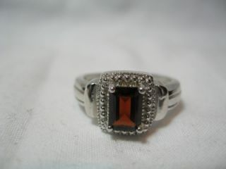 Sterling Silver 925 Ring and Pendant Lot CZ Garnet Onyx