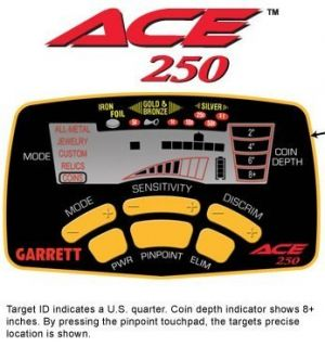 Garrett ACE 250 Metal Detector With Free Shipping From Dealer