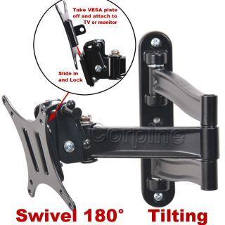 Full Motion LCD LED Monitor Flat TV Tilt Swivel Wall Mount 19 20 22 23