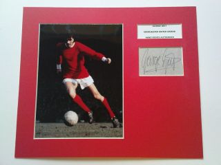 RARE George Best Man UTD Signed Autograph Display COA Manchester