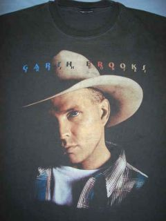 Garth Brooks Black Fresh Horses Country Music Concert Tour T Shirt