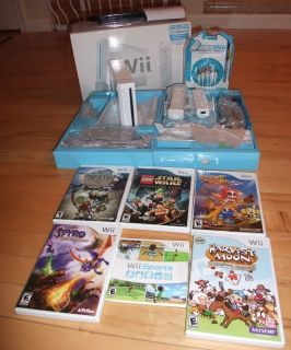 Nintendo Wii Super Pack + Extra Remote + 6 Games