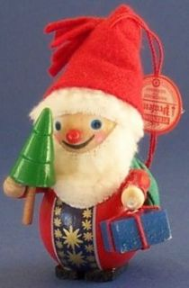 Retired Steinbach Santa German Wood Christmas Tree Ornament