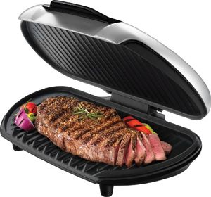 george foreman gr144 platinum family size grill brand new w 2 year