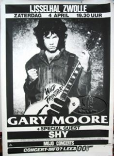 Gary Moore 1987 Tour Concert Poster Thin Lizzy Skid Row