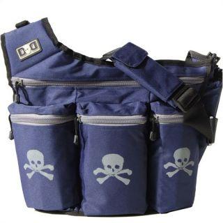 Diaper Dude Navy Skull Cross Bones Diaper Bag 500S