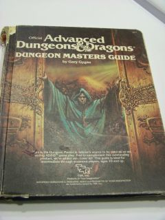Dungeon Masters Guide TSR Ad D Dungeons Dragons Gary Gygax 1979