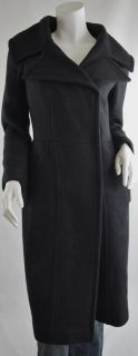 Giambattista Valli Black Wool Shawl Collar Long Coat Jacket 42 S