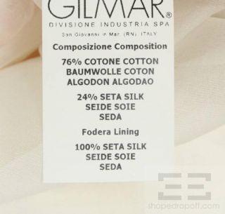 Giambattista Valli Cream Brocade Neon Pink Print Dress Size 44