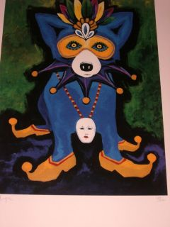 FAMOUS CAJUN BLUE DOG ARTIST GEORGE RODRIGUE LTD. ED. SILKSCREEN