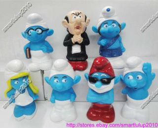 The Smurfs 3D Movie Giant 5 5 PVC Coin Bank Figure Toy Set of 7pcs