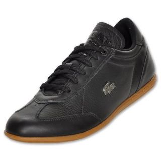 New Lacoste Gaston Platinum Pack Black Leather Casual Mens Shoes Size