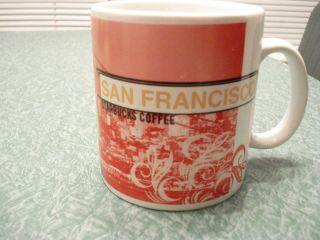 Starbucks Cable Car Golden Gate San Francisco City Mug