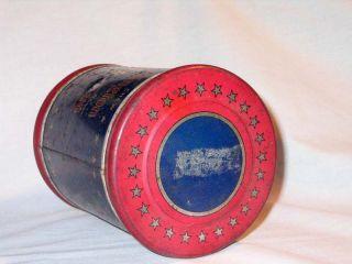 Vintage George Washington Cut Plug Tobacco Tin R J Reynolds Co w