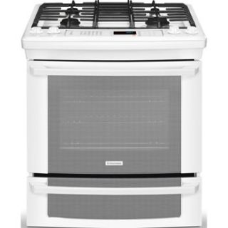 New Electrolux White 30 Gas Slide in Range with IQ Touch EI30GS55LW