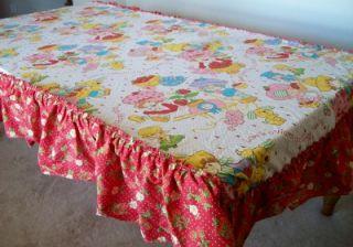 Vintage Vtg Strawberry Shortcake Canopy Top Valance Bedding Fabric