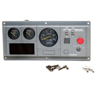 91162 Gray Boat Diesel Engine Dash Gauge Panel w Ign Switch 12V
