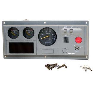 91162 Gray Boat Diesel Engine Dash Gauge Panel w Ign Switch 12V