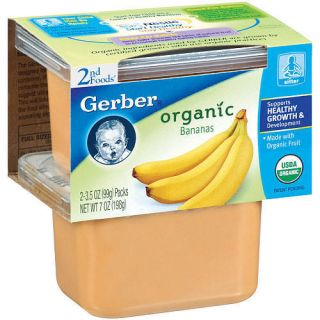 Gerber Organic 2 Pack 2nd Foods Baby Food 3 5 oz Banana