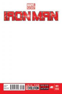 Iron Man 1 Marvel Comics Now Blank Variant