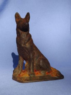 Cast Iron German Shepherd Dog Bookend or Door Stop