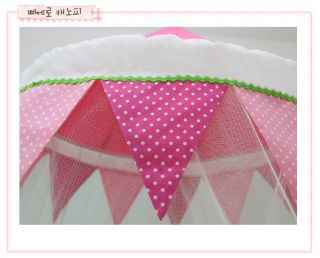 New Baby Crib Bed Canopy Mosquito Netting Pretty Pierrot